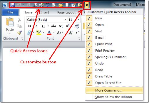 Quick Access Toolbar \u2013 Hansen\u0027s Link to Tech