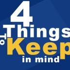 4 Things to KEEP in Mind
